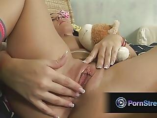 Maria Belucci Uses Her Lollipop To Please Her Wet Cunt