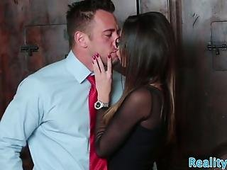 Alluring Stepdaughter Banged By Kinky Couple In Cowgirl Pose