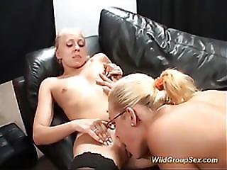 German Chicks In Real Bukkake Orgy