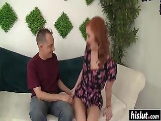 Redhead Beauty Gets Her Wet Pussy Destroyed