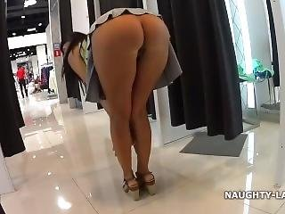Naughty Lada - Shopping And Flashing
