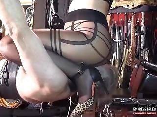 Facesitting Dominatrix - Bondage Pantyhose Smother