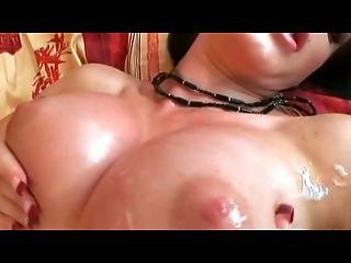 Roxy Panther Gets Her Tits Jizzed On