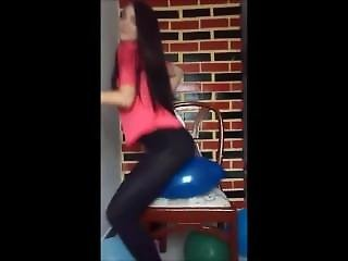 Ass, Balloon, Big Ass, Brunette, Latina