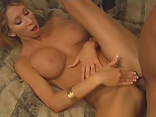 Slutty Blonde Milf Milking Large Throbbing Cock Deep Throat