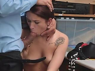 Cute Faced Shoplifter Teen Need To Sit On A Hard Cock