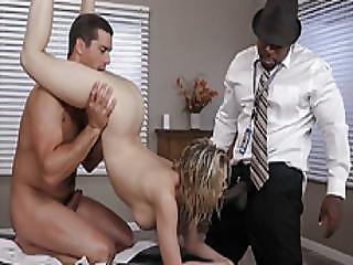 A Massage For Kagney Linn Turns A Threesome