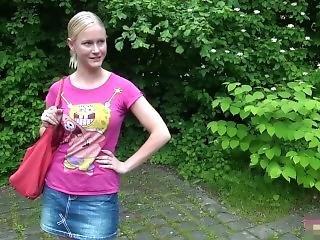amateur, blonde, pipe, allemande, parc