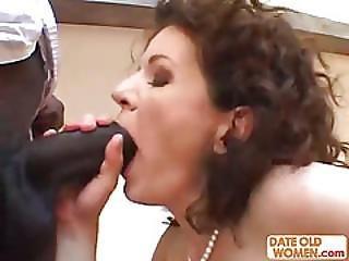 Hairy Granny Fucked Hard By Big Black Man