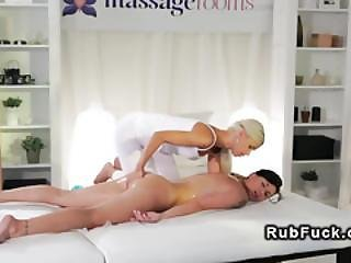 Busty Gets Pussy Fingered And Massaged