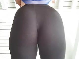 Showing Bubble Butt In See Thru Yoga Pants