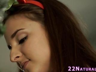 Beautiful Babe Fucked Doggystyle And Facialized For Xmas In Hd