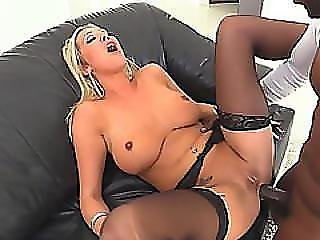 Interracial Anal Fucking With Busty Blonde Milf With Big Tits And Huge Black Cock!