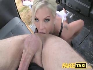 Fake Taxi Deep Throat Gagging Milf Gets Backseat Facial