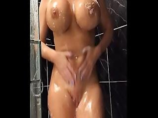 34jj Blonde Shaves Her Pussy And Fucks Her Tight Holes