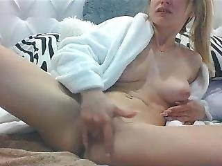 Blonde Cheats Her Boyfriend While He Works, Creamy Cum And Squirt!