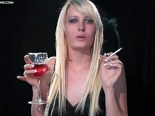 Vicky Smoking And Drinking