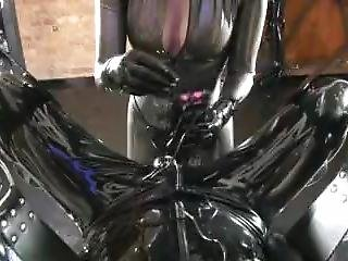 Latex Mistress With Strapon