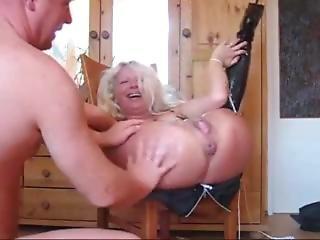 Blonde Granny Squirt