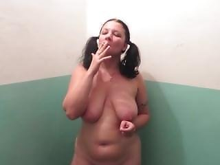 Amateur, Big Tit, Milf, Smoking, Stair
