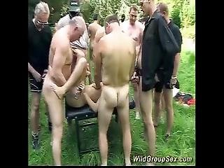 German Groupsex Garden Party
