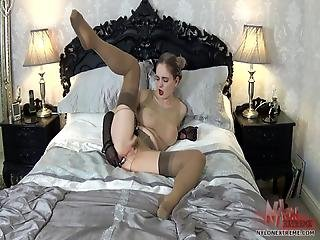 anál, zadek, extrémní, masturbace, nylon, kalhotky, punčocháče, punčocha