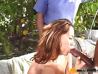In The Mouth The Woman A Man Put His Cock