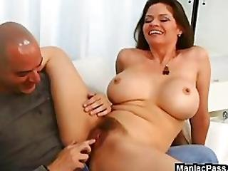 Busty Hairy Milf Cock Rider