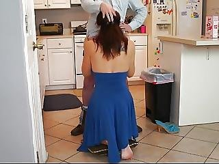Blackmail The Enraged Busty Mommy Into Giving Head