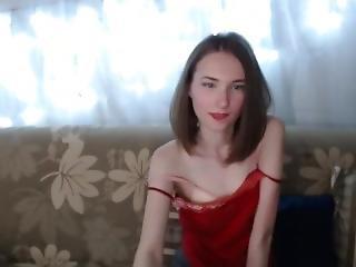 Cute Skinny Teen V1rgn1@k1w1 Rubs Tits