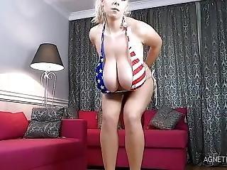 Big Titty Blonde Miracle Bikini Show