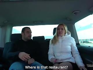 Takevan Mom With Huge Fake Tits Fuck Stranger In Van After Lunch As Desert