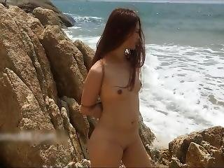 Sexy Chinese Model Outdoor Nude And Masturbation In Bdsm Style