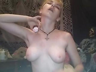 amateur, rubia, fetiche, tetas pequeñas, solo, Adolescente, cera, camara del internet