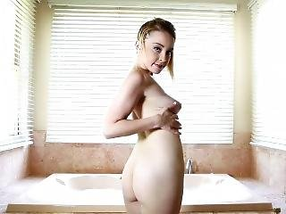 Sexy Teen Takes A Shower And Masturbates