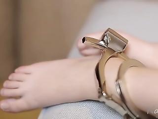 Asian Bondage Cuffed 2 Girl