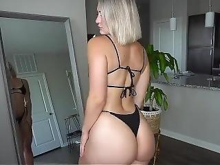 Sexy Girls Trying On Thong Bikinis Haul