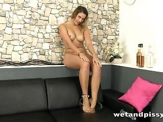 Attractive Blonde Darling Is Horny And All Wet