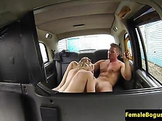 Bigtitted Cabbie Babe Pleasuring Cock