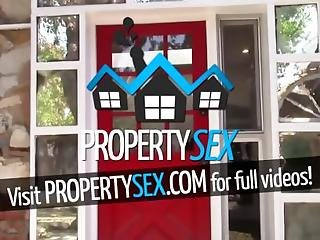 Propertysex - Landlord Mesmerized By Tenants Jaw Dropping Natural Tits