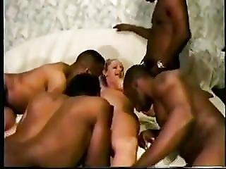 Hot Blonde Gets A Gangbang Creampie By Bbcs