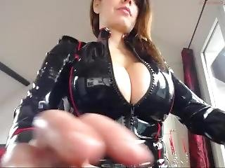Black Latex Outfit_3 Dildo Webcam