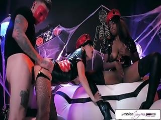 Jessica Jaymes %26 Daya Knight Halloween Party%2C Big Dick%2C Big Booty