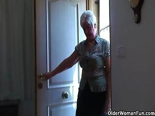 Chubby, Granny, Masturbation, Mature, Milf, Mom, Mother, Old, Stocking, Vibrator