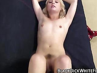 Teen Foot Tugs Black Cock