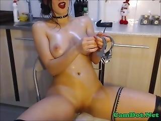 巨乳, マスターベーション, 恥ずかしい, いじめている, ウェブカメラ