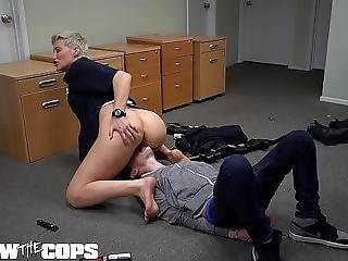 Screw The Cops - Busty Blonde Latina Cop Sucks A Big Dick