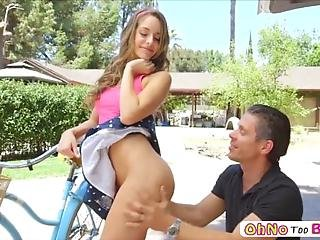 Sexy Beautiful Babe Kimmy Granger Is Having Trouble With Her Bicycle When Some Hunk Mick Blue Approaches Her For Some Assistance And In Return She Lets Him Lick On Her Pussy Before He Begins Fucking Her In Numerous Sexual Positions After She Gives Him A Sloppy Blowjob