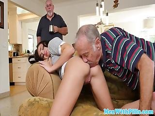 Real Girl Cock Sucking And Riding Old Man