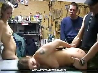 Brutal Catfight - Loser Zip Tied And Fucked